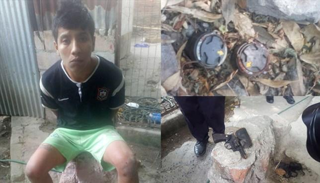 """Cae en una comunidad de San Salvador pandillero que pretendía instalar minas """"quita pies"""""""