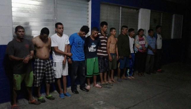 Operativo en el Paisnal deja la captura de 17 pandilleros acusados de diverso delitos