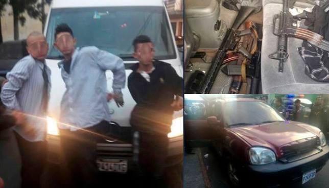 Capturan en Guatemala a pandilleros, entre ellos un salvadoreño, con fuerte armamento