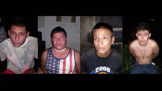 PNC captura en Morazán a cuatro homicidas prófugos de la ley