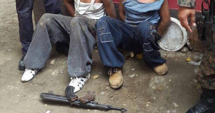 Enfrentamiento armado deja la captura de cuatro pandilleros en Morazán