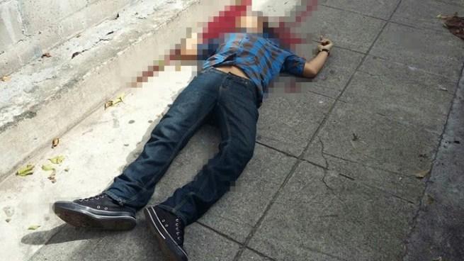 Criminales matan joven en la colonia Amatepec de Soyapango