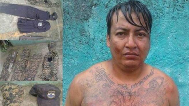 Cae en Quezaltepeque pandillero que tenia en su poder uniformes militares y de la PNC