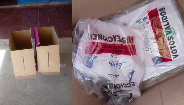 Encuentran papeletas marcadas en centro escolar de Anamorós, La Unión