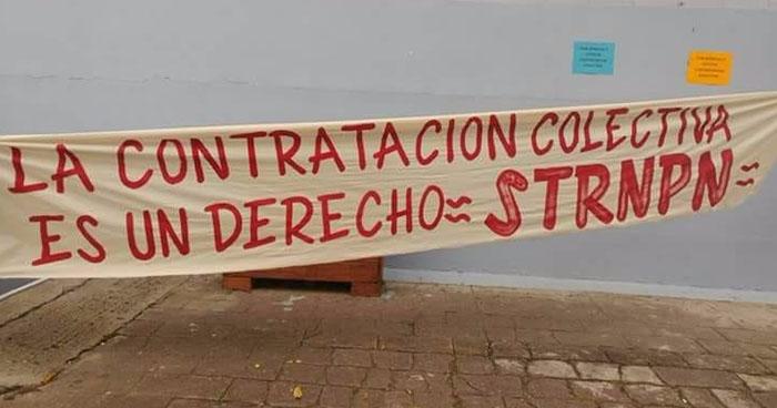 Empleados del RNPN paralizan labores y exigen contrato colectivo