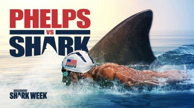 Michael Phelps pierde la carrera contra el tiburón blanco