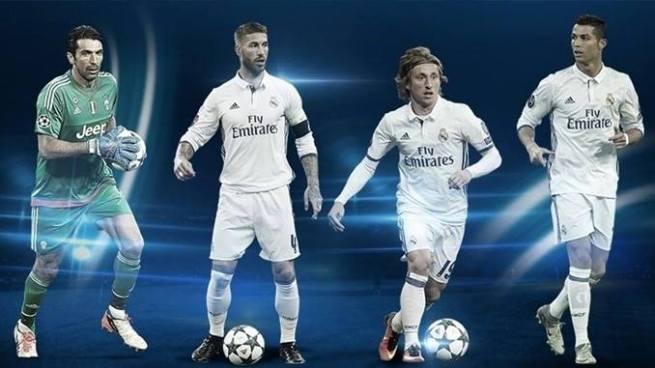 Real Madrid arrasa con los premios a los mejores jugadores de la Champions League