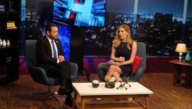 Presidente de Guatemala se molesta y abandona entrevista en vivo