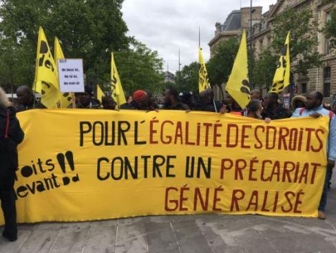Primera marcha social en contra del nuevo presidente de Francia
