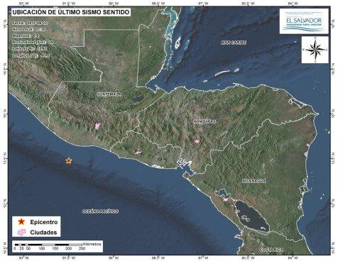 Sismo de 6.9 sacude a El Salvador