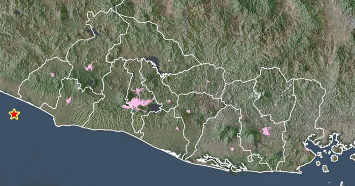 Sismo de 4.2 grados sacude la costa del departamento de Ahuachapán