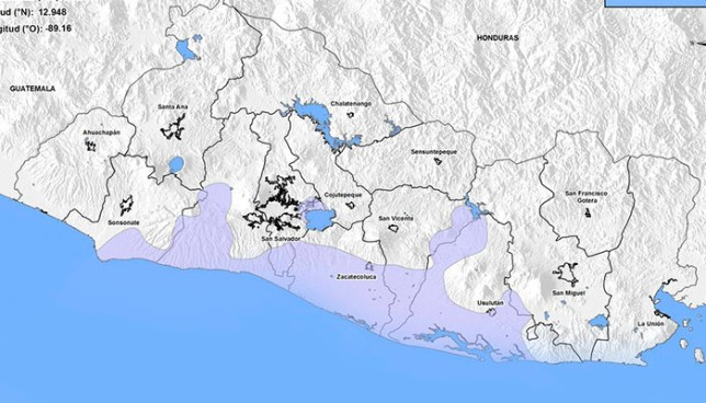 Sismo sacude parte de la zona costera de El Salvador este miércoles