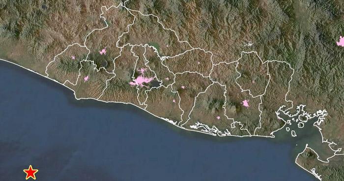Otro sismo sacudió esta tarde la costa de Sonsonate