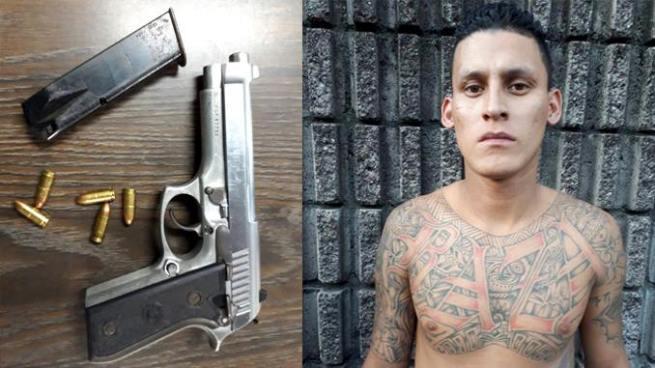 Capturan en San Salvador a sujeto que portaba un arma de forma ilegal