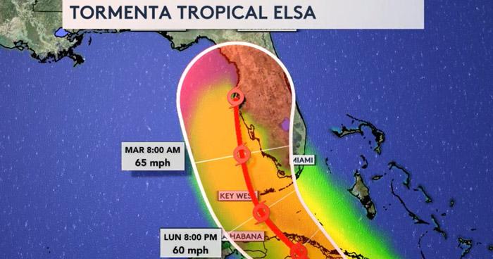 Primeros estragos que deja Elsa a su paso por El Caribe