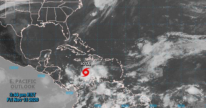 Depresión Tropical 31 se fortalece y se convierte en Tormenta Tropical Iota