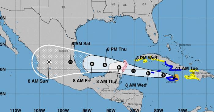 Tormenta Tropical Grace podría influir sobre el territorio salvadoreño durante las próximas horas