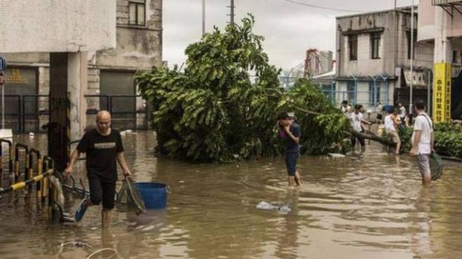 Al menos 16 muertos tras paso del tifón Hato en China