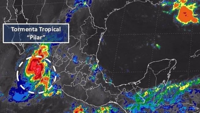 Se forma la tormenta tropical Pilar cerca de las costas del Pacífico en México