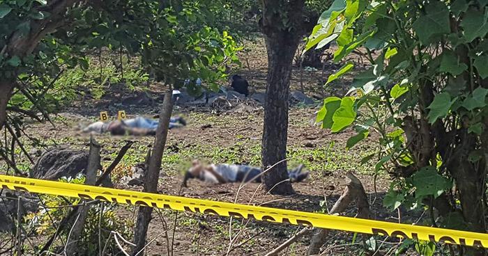Asesinan a tres hombres al interior de un potrero en Tecoluca, San Vicente