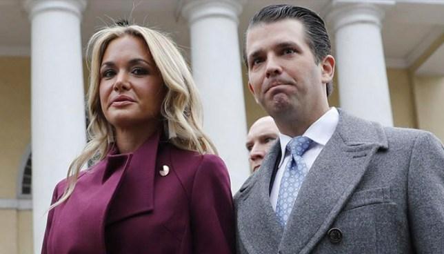 Hospitalizan a esposa del hijo de Donald Trump tras abrir sobre con un polvo sospechoso