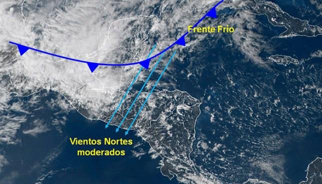 Autoridades del MARN pronostican el ingreso de ráfagas de vientos para este martes