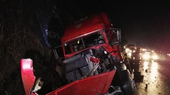 Múltiple accidente en la carretera de Oro