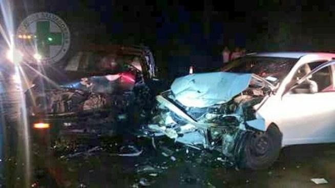 Aparatoso accidente de tránsito deja 5 personas lesionadas en Metapán