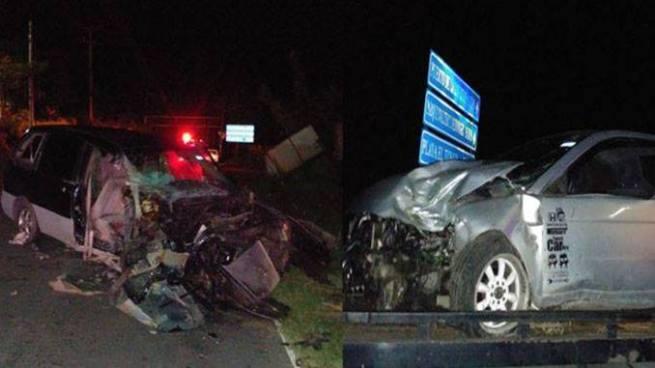 Aparatoso accidente de tránsito deja 2 personas lesionadas carretera al puerto de La Libertad