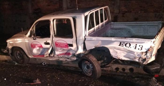 Conductor ebrio provoca accidente y deja 2 lesionados en Antiguo Cuscatlán