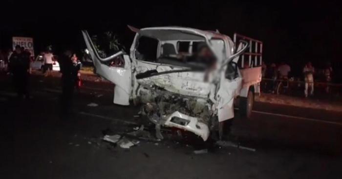 Tres muertos, incluida una niña de 9 meses, tras grave accidente Acajutla, Sonsonate