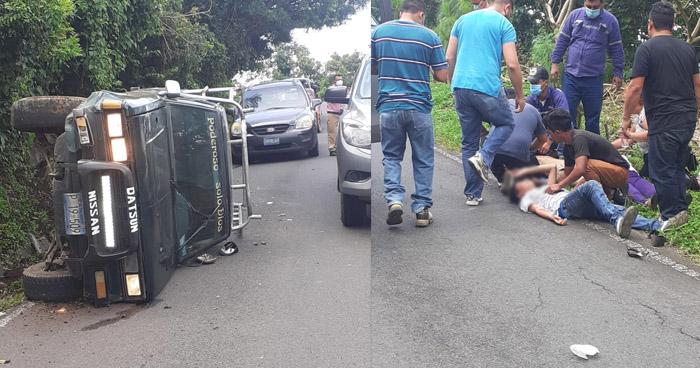 Embarazada y 5 menores de edad entre lesionados tras accidente en Usulután