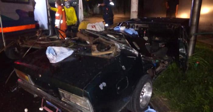 Hombre muere decapitado y 4 más resultaron lesionadas en aparatoso accidente en Bulevar del Ejército