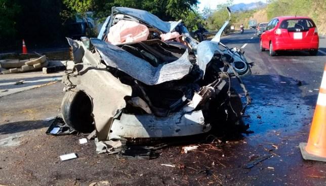 Tres lesionados tras grave accidente de tránsito en carretera de Oro