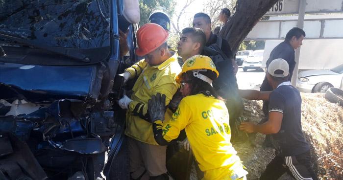 Un lesionado tras múltiple choque registrado en Ciudad Arce