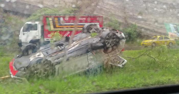Varios lesionados tras fuerte accidente en carretera de Oro