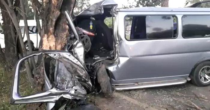 Conductor lesionado tras accidentarse en carretera a Santa Ana