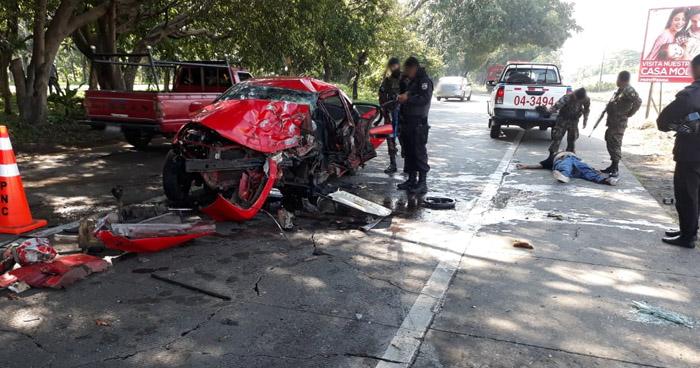 Un muerto y un lesionado tras dos graves accidentes de tránsito, registrados esta mañana