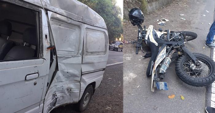 Motociclista lesionado tras choque en carretera de La Libertad