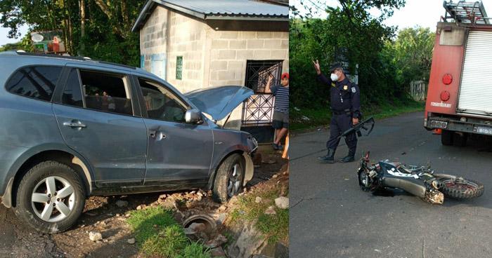 Dos lesionados tras accidente de tránsito en Cabañas