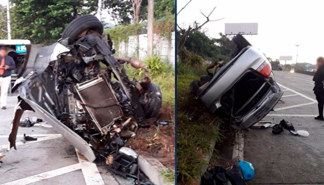 Cuatro lesionados tras grave accidente de tránsito en bulevar Monseñor Romero