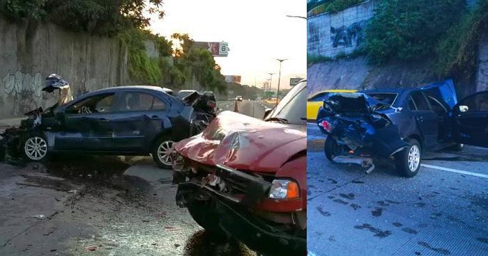 Múltiple accidente en el bulevar Monseñor Romero deja 1 menor lesionado