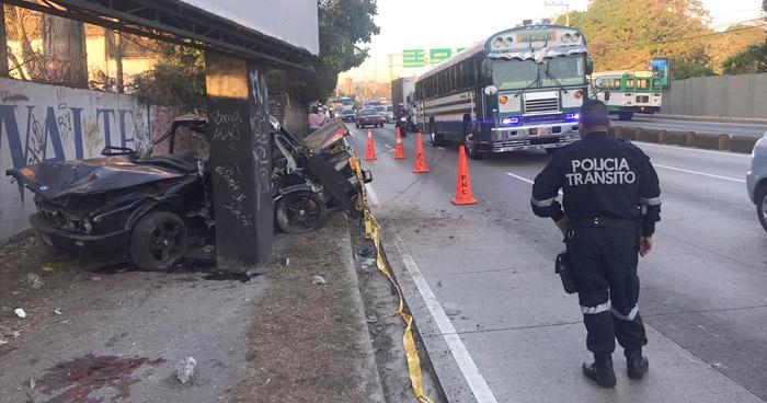 Un fallecido tras aparatoso choque por Ceiba de Guadalupe