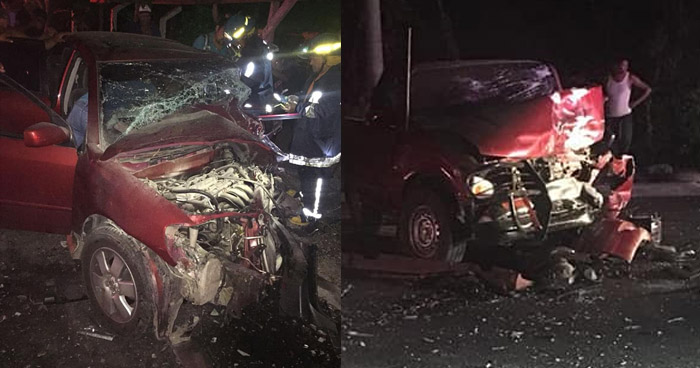 Un muerto y varios lesionados tras aparatoso choque sobre carretera de San Vicente