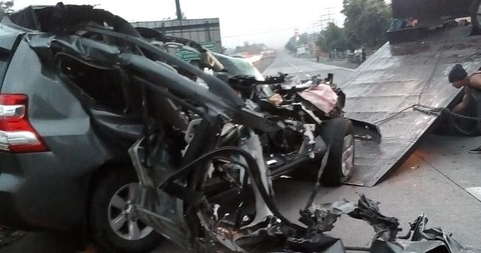 Accidente de tránsito en carretera a Santa Ana deja un muerto y dos lesionados