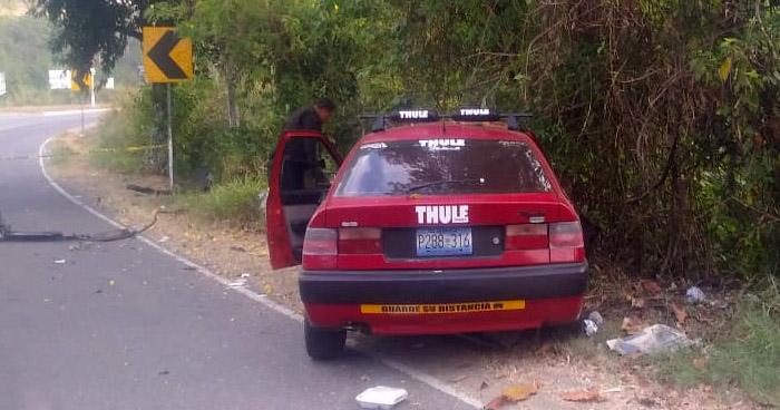 Un muerto tras accidente de tránsito en carretera hacia Metapán, Santa Ana