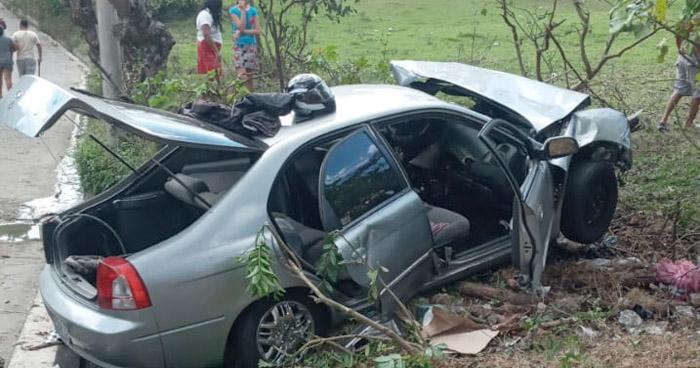 Dos mujeres lesionadas tras accidente en San Rafael Cedros, Cuscatlán
