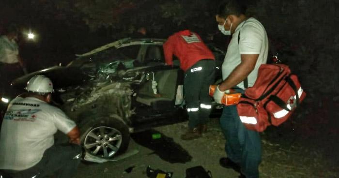 Un fallecido y un lesionado tras fuerte accidente en carretera Troncal del Norte