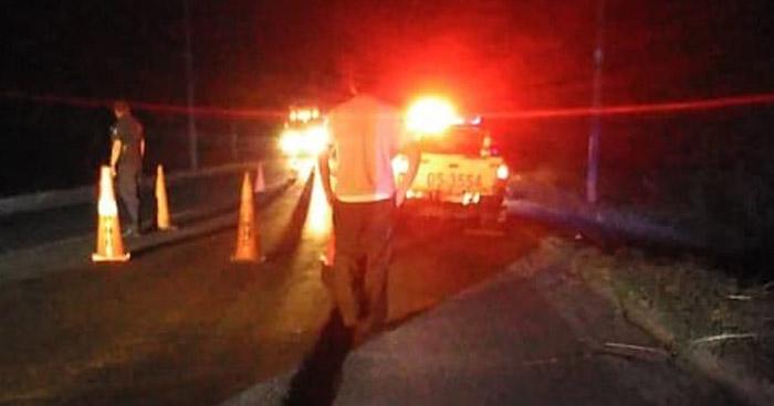 Un fallecido y otro lesionado tras accidente de tránsito en Jiquilisco, Usulután