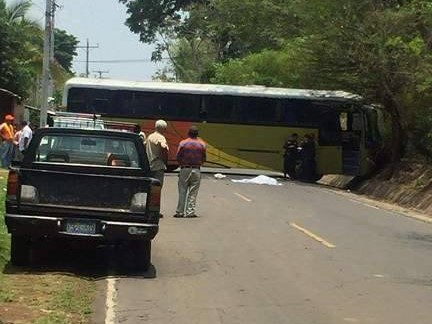 Fallece anciana tras ser impactada por un autobús Ruta 201